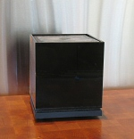 The Cube Sound Fountain in gloss black